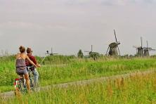 Holland's countryside with MS Lena Maria - Kinderdijk