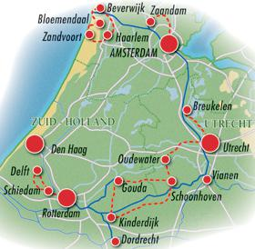 Amsterdam meets Rotterdam with MS De Amsterdam - map