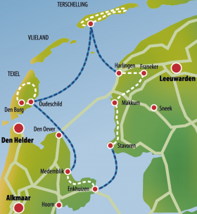 IJsselmeer & Frisian islands - map