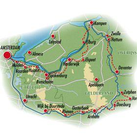 Dutch Hanseatic Tour - map