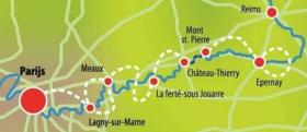 Boat & bike - Champagne and Paris - map