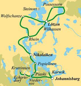 Karte - Rad & Schiff in Masuren