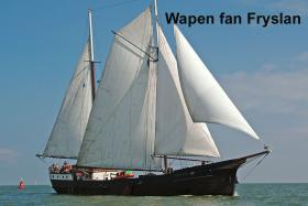 Rad & Schiff in Holland - Wapen fan Fryslan
