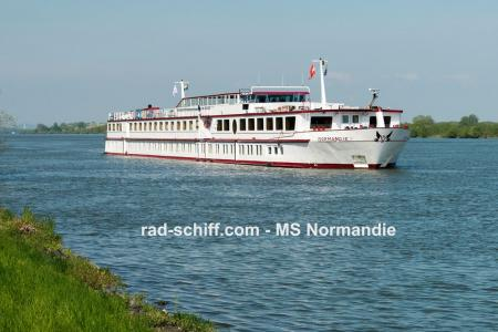 Boat and bike on Danube river - MS Normandie